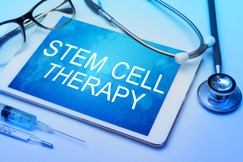 Tablet with the words stem cell therapy